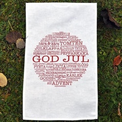 Kökshandduk God Jultext-Mellow Design