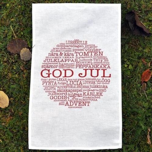 Kökshandduk God Jultext-Mellow Design