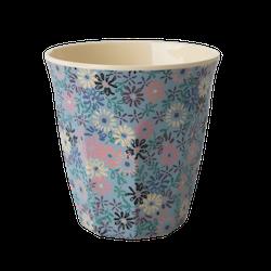 Mugg blommor blå- RICE