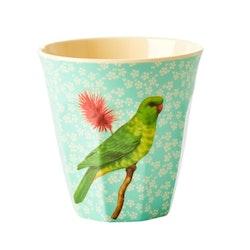 Mugg fågel grön- RICE