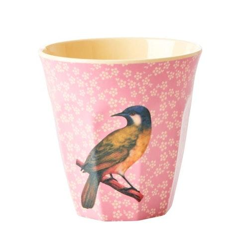 Mugg fågel rosa- RICE