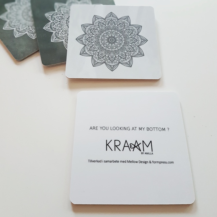 Glasunderlägg 4pack- KRAAM