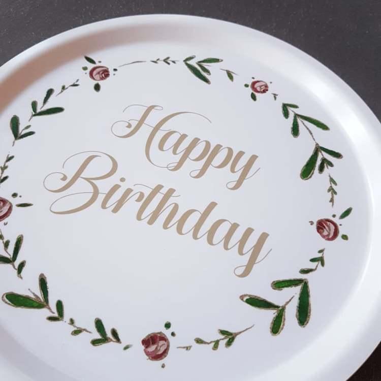 Bricka rund 31 Birthday- MELLOW DESIGN
