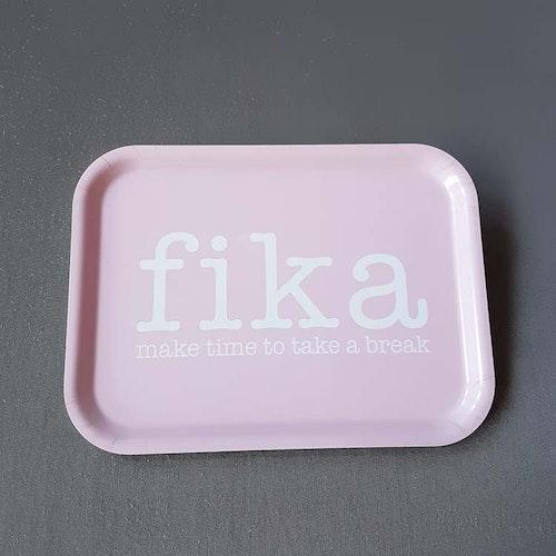 Bricka 27X20 Fika rosa- MELLOW DESIGN