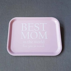 Bricka 27X20 Best Mom- MELLOW DESIGN