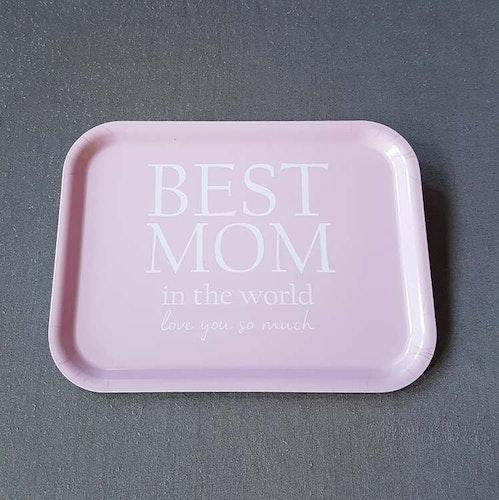 Bricka 27X20 Best Mom- MELLOW DESIGN