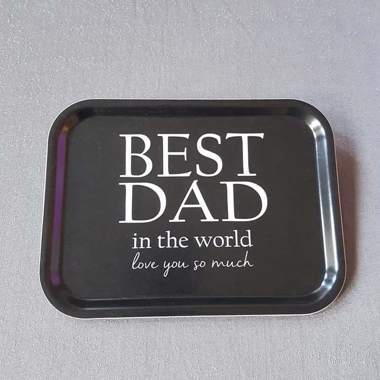 Bricka 27x 20 Best Dad - MELLOW DESIGN