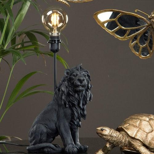 Lampa Lejon svart- A LOT