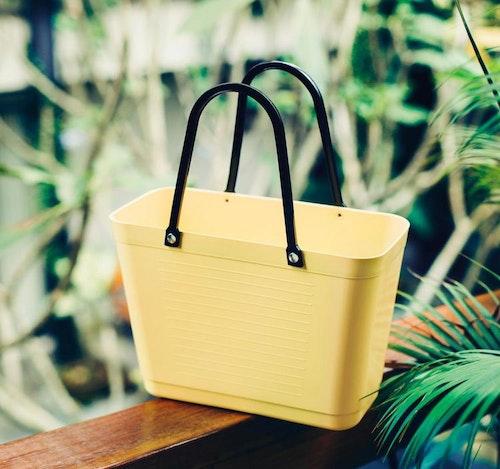 Hinza väska liten citrongul -green plastic
