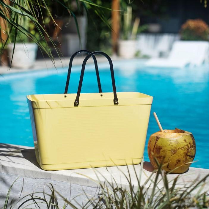 Hinza väska stor citrongul -green plastic