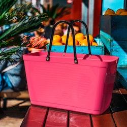 Hinza väska stor tropikrosa -green plastic