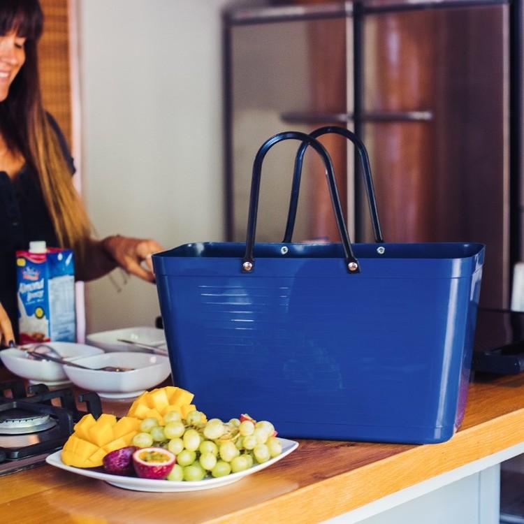 Hinza väska stor blå