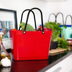 Hinza väska liten röd