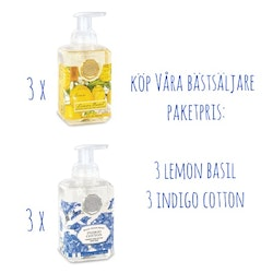 Skumtvål Indigo & Lemon 6-pack- MICHEL DESIGN WORKS