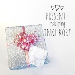 Presentinslagning inkl. kort
