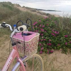 Hinza väska liten rosa -green plastic