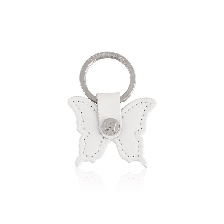 Nyckelring Butterfly vit-CAROLINA GYNNING
