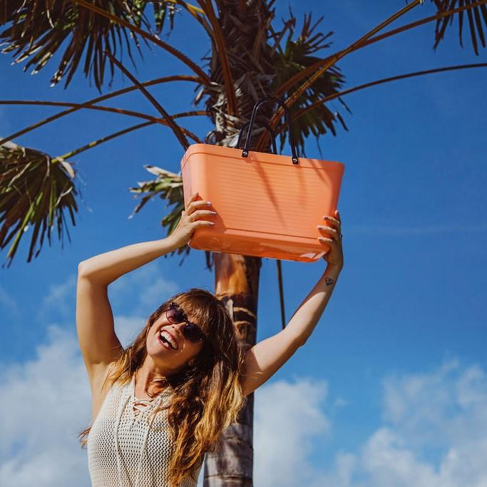 Hinza väska stor aprikos