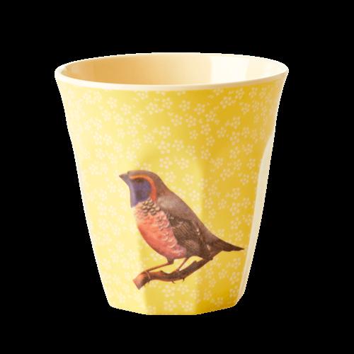 Mugg fågel gul- RICE