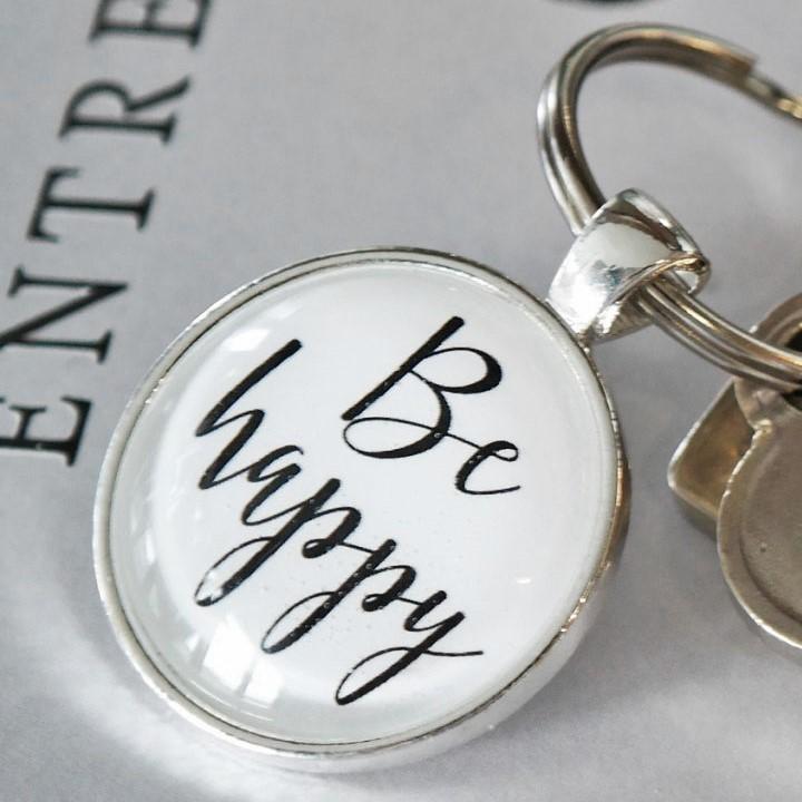 Nyckelring Be Happy