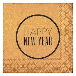 Servetter små Happy new year- RÄDER