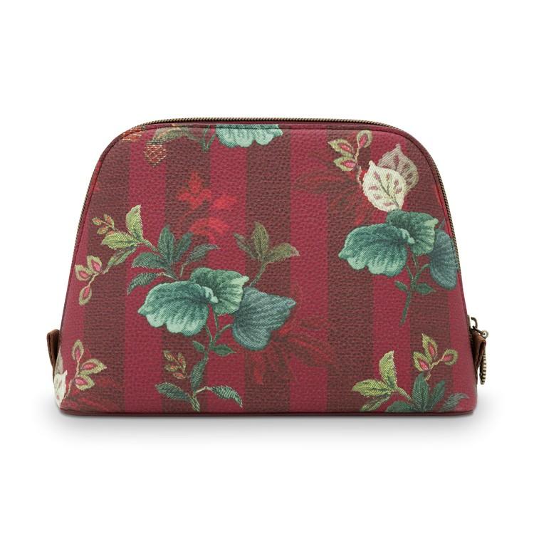 Necessär Leafy Stitch vinröd- PIP  STUDIO