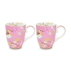 Mugg Early Bird  rosa 2pack- PIP STUDIO