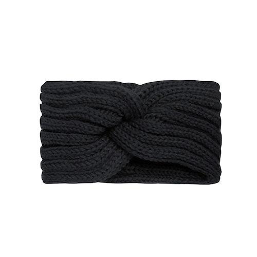 Pannband stickat svart
