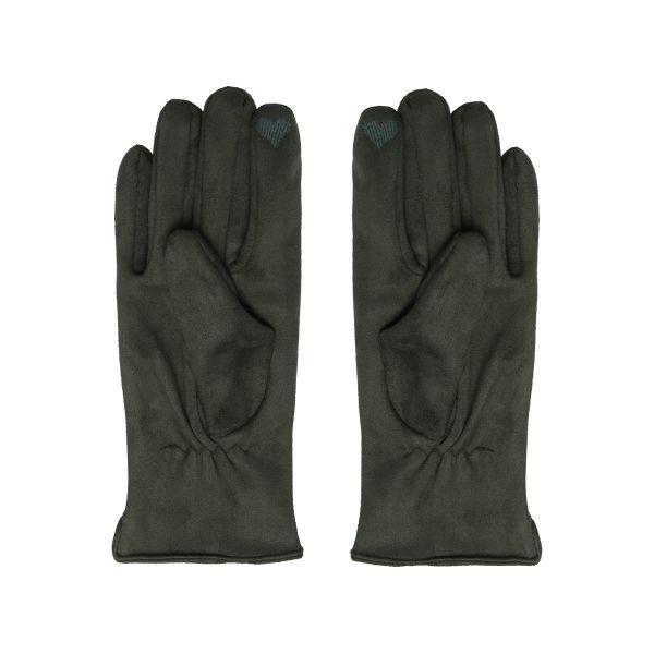 Handskar mocka gröna