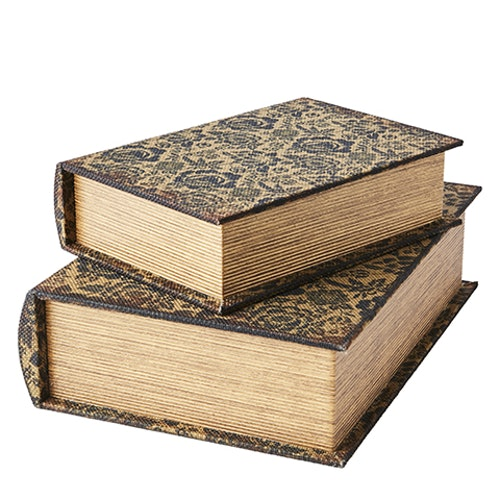 Boklådor antik brun  2-pack