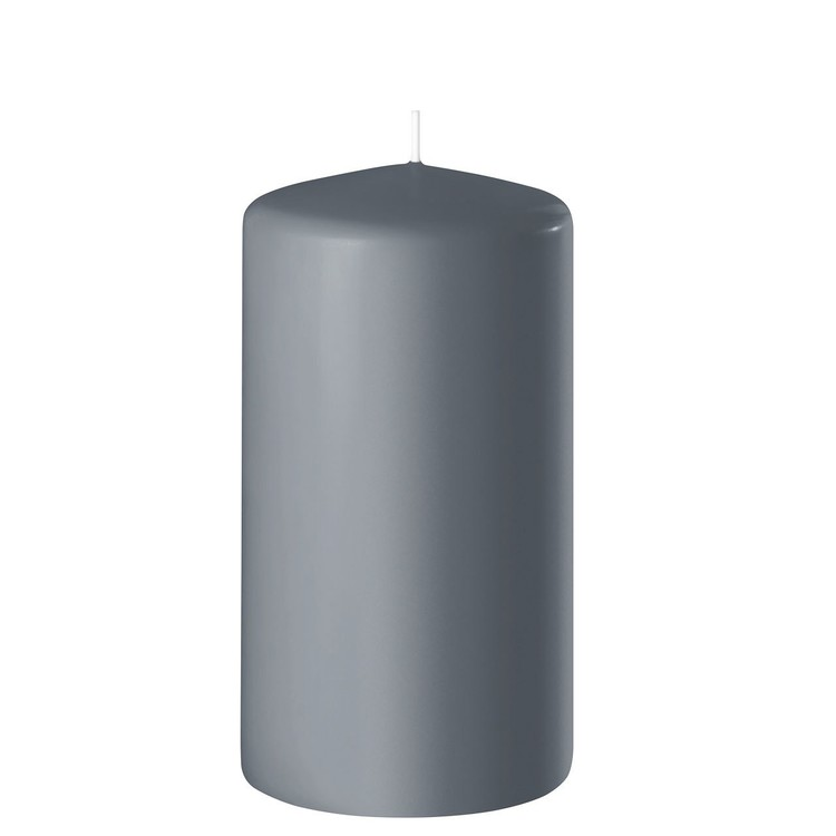 Blockljus grå 12 cm