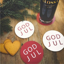 Glasunderlägg 4pack God Jul-Mellow Design