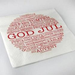 Servetter God Jultext-Mellow Design