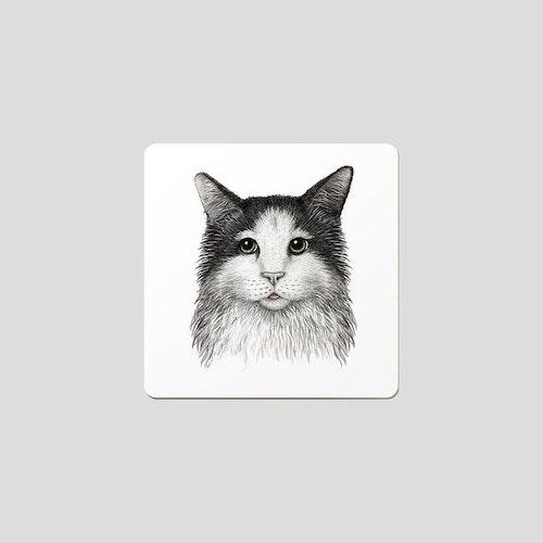Glasunderlägg katt 6-pack- CHARLOTTE NICOLIN