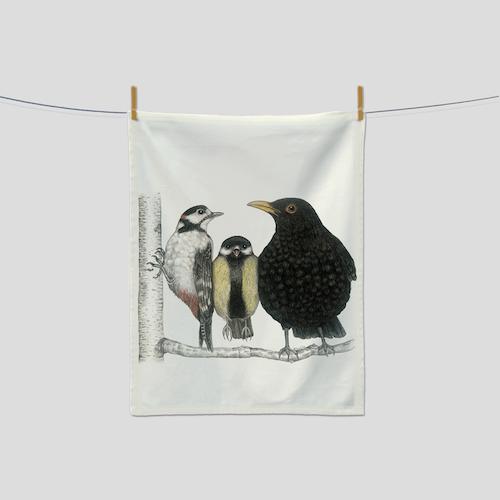 Kökshandduk fåglar- CHARLOTTE NICOLIN