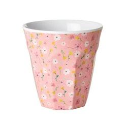 Mugg blommor rosa- RICE