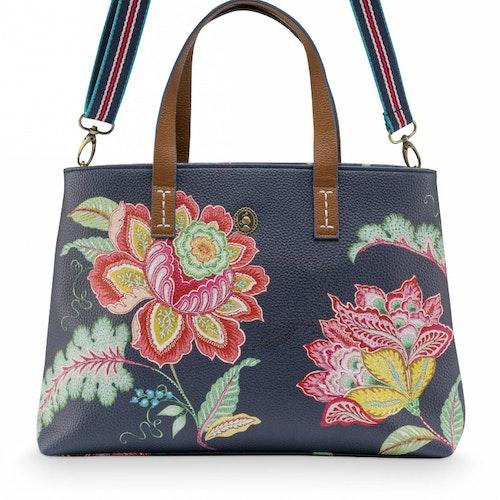 Väska jambo flower blå- PIP STUDIO