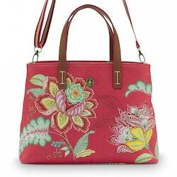 Väska Jambo flower röd- PIP STUDIO
