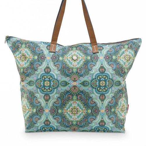 Väska beach bag moon delight blå- PIP STUDIO