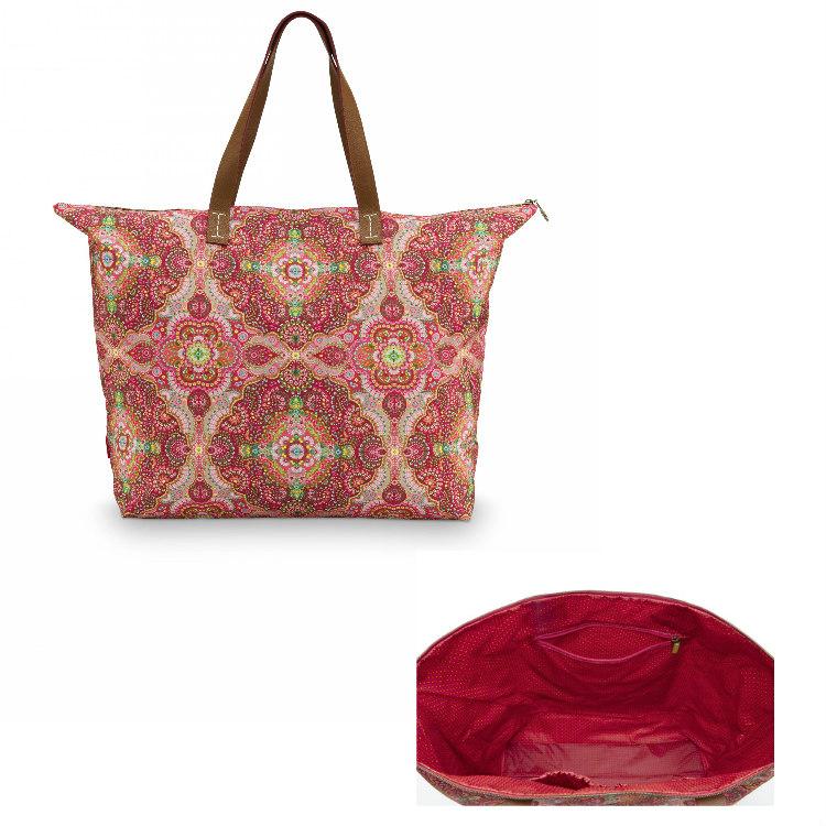 Väska beach bag moon delight röd- PIP STUDIO