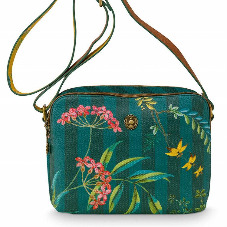 Väska cross body fleur grön- PIP STUDIO