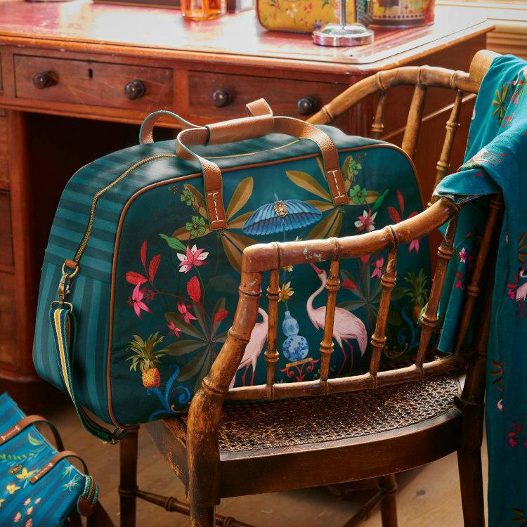 Väska weekend heron homage grön- PIP STUDIO