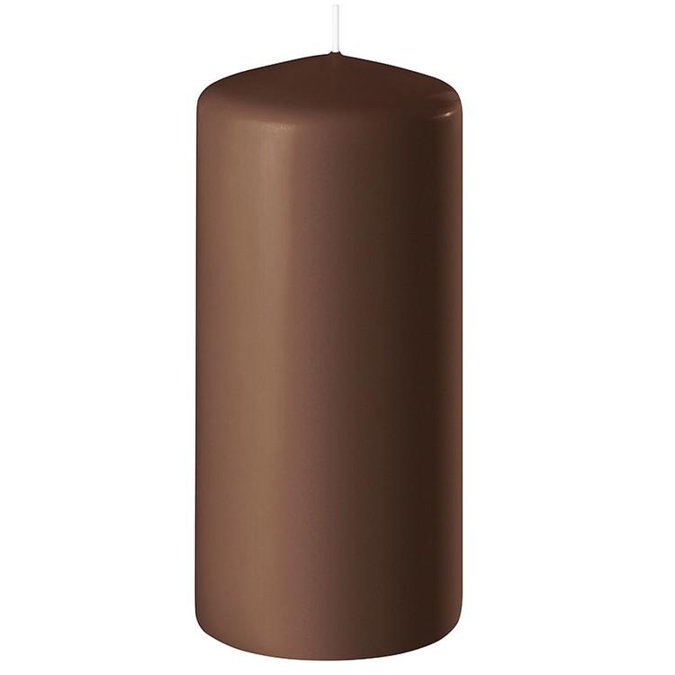 Blockljus brun 15 cm
