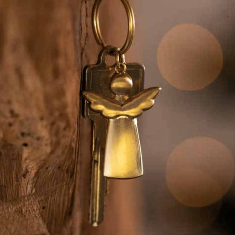 Nyckelring ängel guld- RÄDER