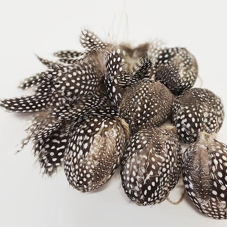 Påskpaket fjädrar pärlhöns