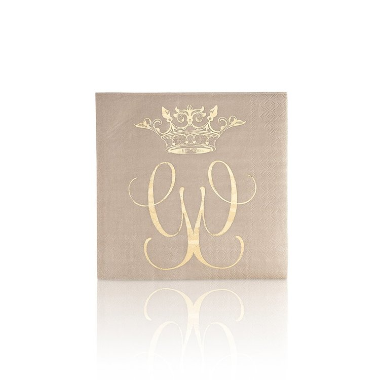 Servetter Royal greige- CAROLINA GYNNING