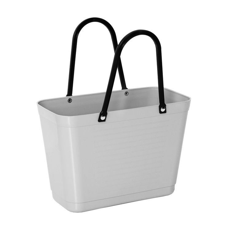 Hinza väska liten ljusgrå  -green plastic
