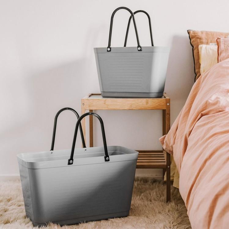 Hinza väska stor ljusgrå  -green plastic