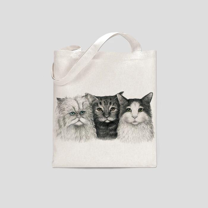 Tygkasse katter- CHARLOTTE NICOLIN