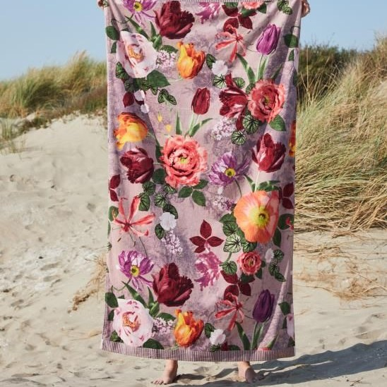 Strandhandduk 100 x 180 Scarlett dusty rose - ESSENZA